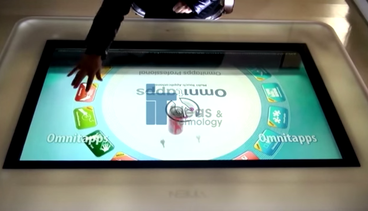 MULTITOUCH TRANSPARENT TABLE