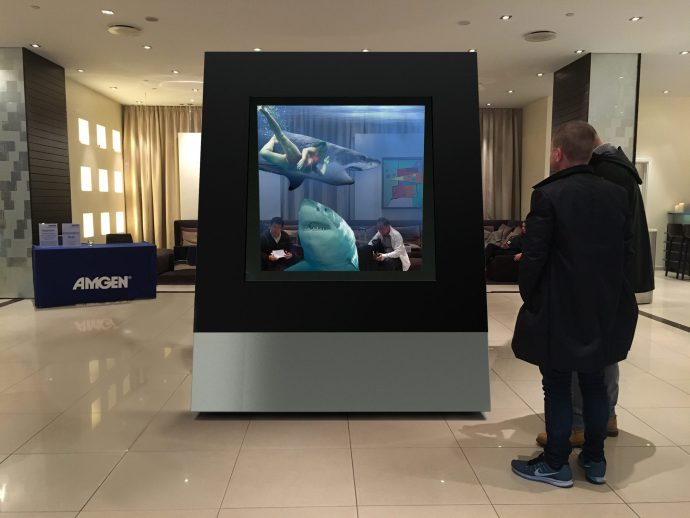 Giant 3D Hologram Mixed Reality display